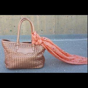 Rebecca Minkoff Tote Bag Leather Rose Gold Purse